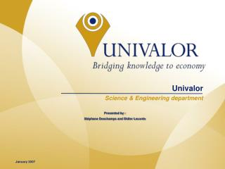 Univalor    Science & Engineering department