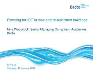 Planning for ICT in new and re-furbished buildings