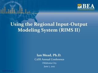 Using the Regional Input-Output Modeling System (RIMS II)