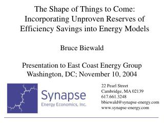 Bruce Biewald Presentation to East Coast Energy Group Washington, DC; November 10, 2004
