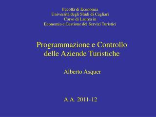 Facoltà di Economia Università degli Studi di Cagliari Corso di Laurea in