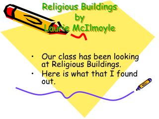 Religious Buildings by Laurie McIlmoyle