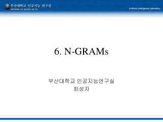 6. N-GRAMs
