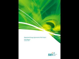Negotiated Energy Agreements Pilot Project