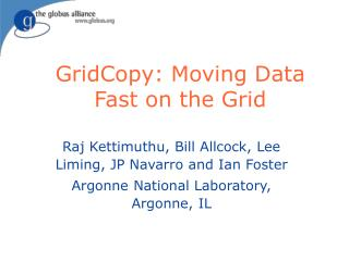 GridCopy: Moving Data Fast on the Grid