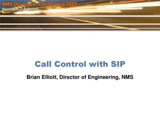 Call Control with SIP