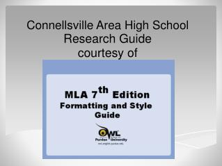 Connellsville Area High School Research Guide courtesy of
