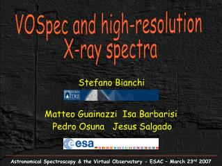VOSpec and high-resolution  X-ray spectra