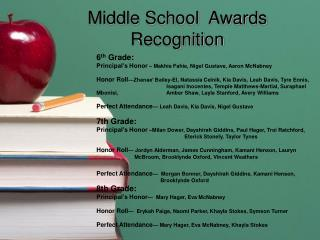 Middle School  Awards Recognition