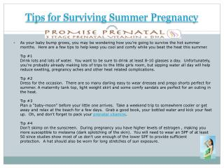 Tips for Surviving Summer Pregnancy