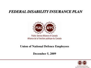 FEDERAL DISABILITY INSURANCE PLAN