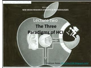 MS2306 NEW MEDIA RESEARCH CONCEPTS & METHODOLOGIES Lecture two The Three  Paradigms of HCI