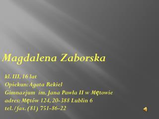 Magdalena Zaborska