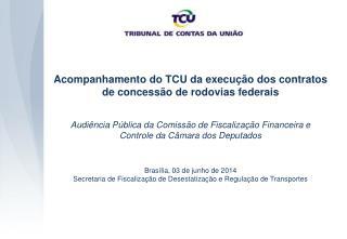 Acompanhamento do TCU da execução dos contratos de concessão de rodovias federais