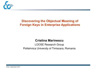 Discovering the Objectual Meaning of Foreign Keys in Enterprise Applications