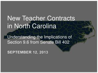 New Teacher Contracts in North Carolina