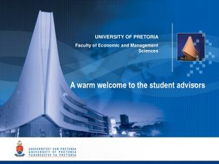 UNIVERSITY OF PRETORIA Faculty of Economic and Management Sciences