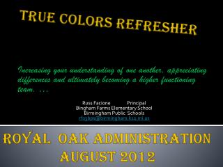 True Colors  REfresher