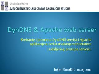 DynDNS  & Apache web server