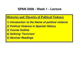 SPAN 2008 - Week 1 - Lecture
