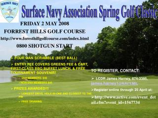 Surface Navy Association Spring Golf Classic