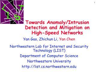 Towards Anomaly/Intrusion Detection and Mitigation on High-Speed Networks