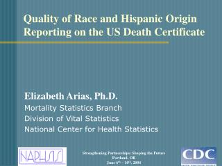 Quality of Race and Hispanic Origin Reporting on the US Death Certificate