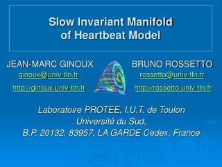 JEAN-MARC GINOUX               BRUNO ROSSETTO ginoux@univ-tln.fr rossetto@univ-tln.fr