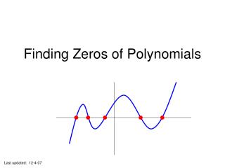 Finding Zeros of Polynomials