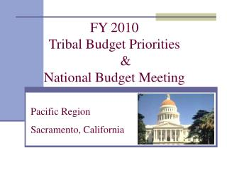 FY 2010 Tribal Budget Priorities  	& National Budget Meeting