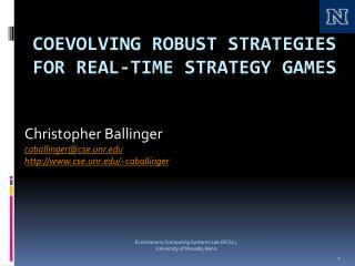 COEVOLVING ROBUST STRATEGIES FOR Real-Time Strategy Games