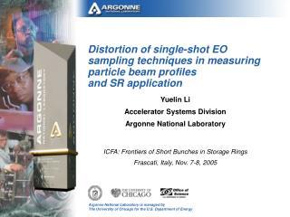Yuelin Li  Accelerator Systems Division Argonne National Laboratory