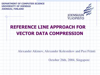 REFERENCE LINE APPROACH FOR VECTOR  DATA COMPRESSION