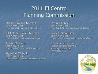 2011 El Centro Planning Commission