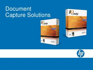 Document Capture Solutions