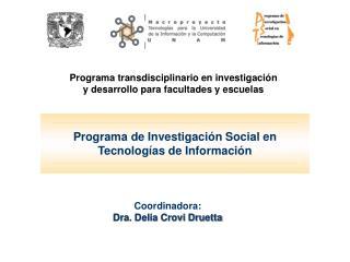 Programa de Investigación Social en Tecnologías de Información