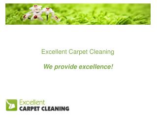 Excellent Carpet Cleaning We provide excellence!