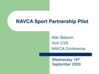 NAVCA Sport Partnership Pilot