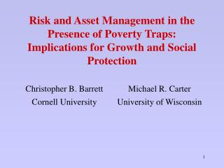 A Behavioral Approach to Poverty and Vulnerability