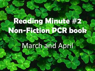 Reading Minute #2 Non-Fiction PCR book