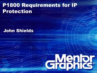 P1800 Requirements for IP Protection