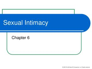 Sexual Intimacy
