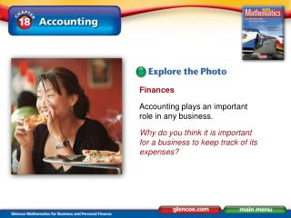 Finances Accounting plays an important role in any business.