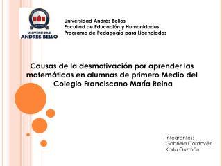 Universidad Andrés Bellos Facultad de Educación y Humanidades