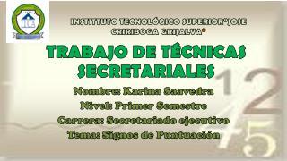 TRABAJO DE TÉCNICAS SECRETARIALES