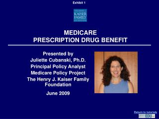 MEDICARE  PRESCRIPTION DRUG BENEFIT