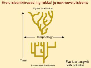 Evolutsioonikiirused liigitekkel ja makroevolutsioonis