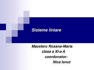 Sisteme liniare