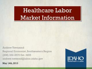 Healthcare Labor Market Information
