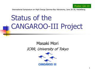 Status of the CANGAROO-III Project